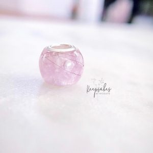 Pink round bead made to fit Pandora jewellery