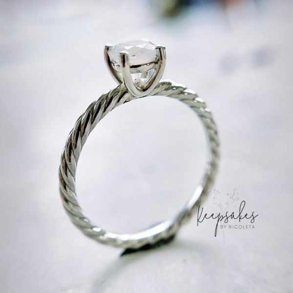 Entwined Memories Ring, stone made with breastmilk